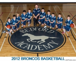 Coach Adams and the Bronco mini-boys team.