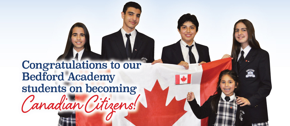 Citizenship: Welcome new Canadians.